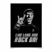 Спок . live long an rock on!