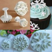 3Pcs Snowflake Biscuit Cake Decorating Mold