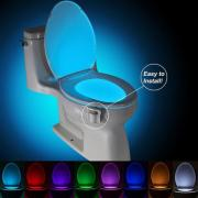 1/2 pcs 8 Colors LED Toilet Motion Activated Toilet Nightlight (HHI-518555)