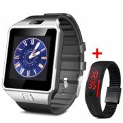 DZ09 Dialer Smart Watch Phone + New Silicone Bracelet Digital LED (KB-516335)