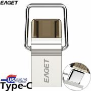 EAGET CU10 32GB Type-C to USB3.0 Metal OTG USB Flash Drive (EUD-501537)
