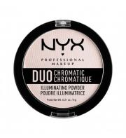 NYX PROFESSIONAL MAKEUP Сухой хайлайтер «дуо хроматик» Duo Chromatic Illuminating Powder - Snow Rose 04