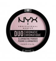 NYX PROFESSIONAL MAKEUP Сухой хайлайтер «дуо хроматик» Duo Chromatic Illuminating Powder - Lavender Steel 02