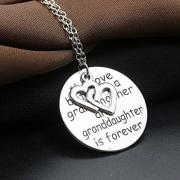 Engraved Love Forever Double Heart Pendant Necklace