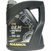 Масла MANNOL Масло моторное Mannol OEM for Daewoo GM 5W40 4л