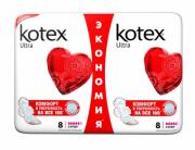 Прокладки Kotex Ultra Dry Super Duo, 16шт.