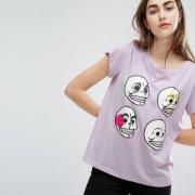 Футболка Cheap Monday Have Personal Skull Tee Lilac