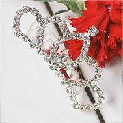 Glittering Rhinestones Inserted Crown Hair Decoration (3440196)
