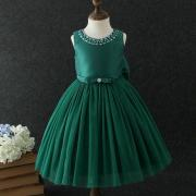 Beads Bowknot Decorated Tulle Princess Dress (4199666)