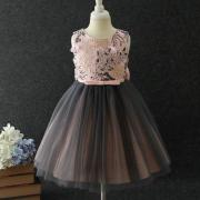Flower Decorated Back Bowknot Lace Tulle Princess Dress (4199756)