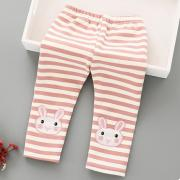 Thickened Stripe Bunny Pattern Pants (3975527)