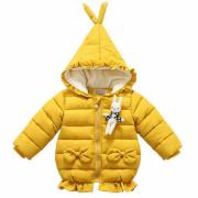 Thickened Bowknot Decorated Hooded Outerwear With Bunny (4002808)