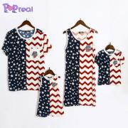 Wave Stripes Star Prints Family Outfits (4658360)