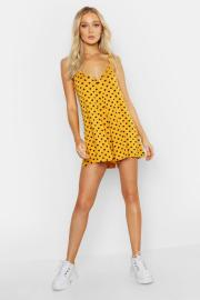 Polka Dot Swing Playsuit