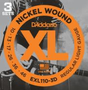 EXL110 3-PACK NICKEL WOUND REGULAR LIGHT