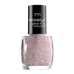 MISSLYN Верхнее покрытие glitter flash nail lacquer № 711