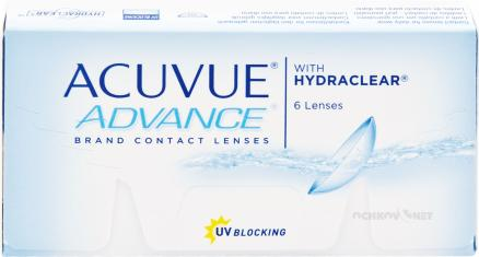 Контактные линзы Acuvue Advance with Hydraclear 6 линз (1 упаковка)