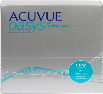 Контактные линзы ACUVUE OASYS 1-Day with HydraLuxe Technology 90 линз