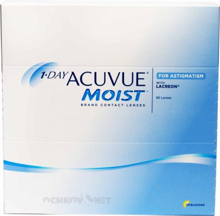 Контактные линзы 1-Day Acuvue Moist  for Astigmatism 90 линз