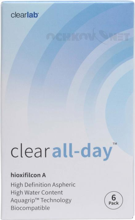Clear All day 6 линз 6 линз
