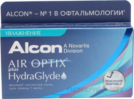Air Optix plus HydraGlyde 6 линз 6 линз