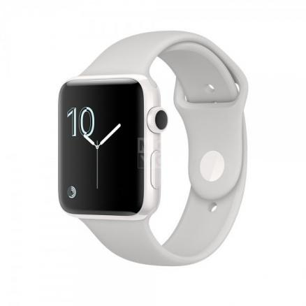 Смарт-часы Apple Watch Edition 42 MNPQ2 White Ceramic Case with White Sport Band (MNPQ2)