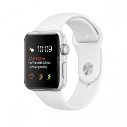 Смарт-часы Apple Watch Series 1 42 MNNL2 Silver Al Case with White Sport Band (MNNL2FS/A)