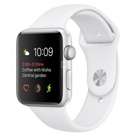 Смарт-часы Apple Watch Series 2 38 MNP42 St Steel Case with White Sport Band (MNP42)