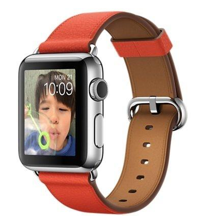 Смарт-часы Apple Watch 38 MMF82 St Steel Case with Red Classic Buckle (MMF82KR/A)
