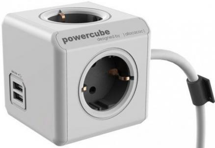 Сетевой удлинитель Allocacoc PowerCube Extended USB 1402GY/DEEUPC (Grey)