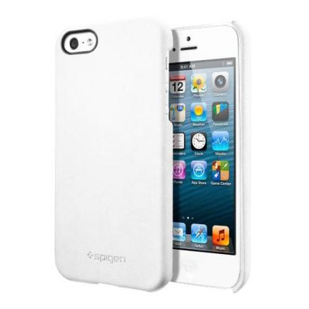 Чехол для iPhone 5/5S SGP Genuine Leather Grip White