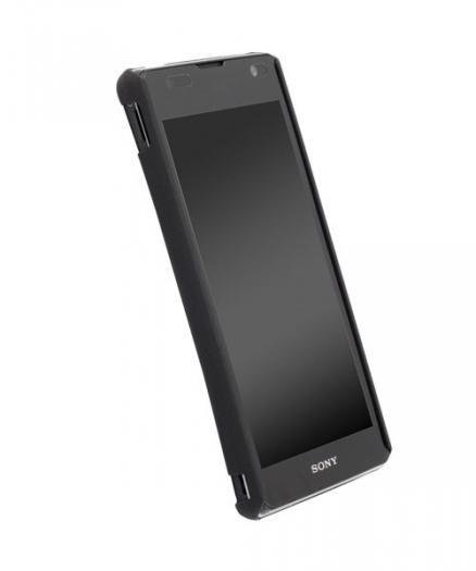 Чехол для Sony Xperia TX Krusell ColorCover Black Metallic