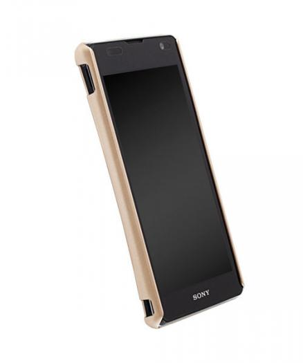Чехол для Sony Xperia TX Krusell ColorCover Champagne Metallic