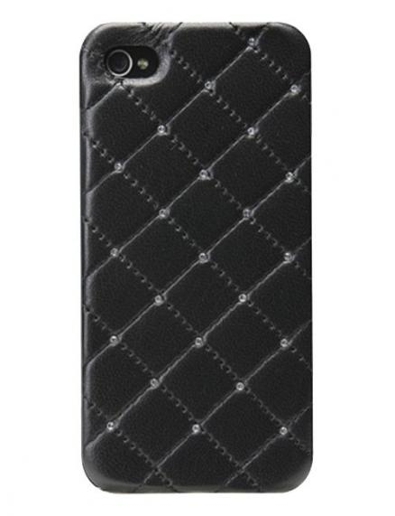 Панель для iPhone 5/5S iCover Leather Swarovski Black IP5-LE-SW/BK