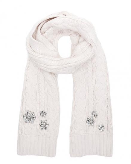 Шарф Embellished Chunky Cable Scarf