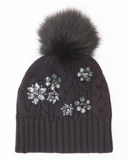 Шапка Embellished Chunky Cable Beanie