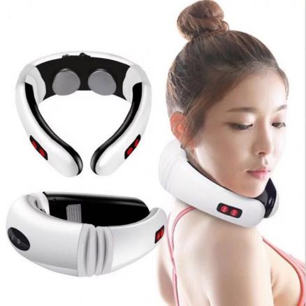 Electric Neck massage instrument cervical Spine treatment Relax electromagnetic shock pulse cervical physiotherapy Massager