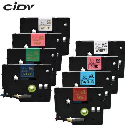 CIDY Satin Ribbon 12mm tze label tape TZe-RE34 TZ-RN34 TZE-RE31 TZ-R234 TZE-RG34 TZ-RW34 for gift  for Brother P Touch printer