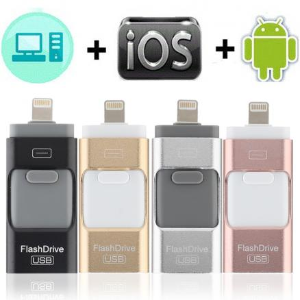 2019 New Otg USB Flash Drive For iPhone/Android Phone Pen Drive For iPhone 6 6P 6S 7 7P 7S 8 8P X XS XR Pendrive iOS 8.0 Above