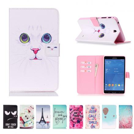 SM-T231 SM-T230 Painted PU Leather Flip Case Cover for Samsung Galaxy Tab 4 7.0 T230 T231 T235 Stand Cases 7 Inch Tablet Fundas