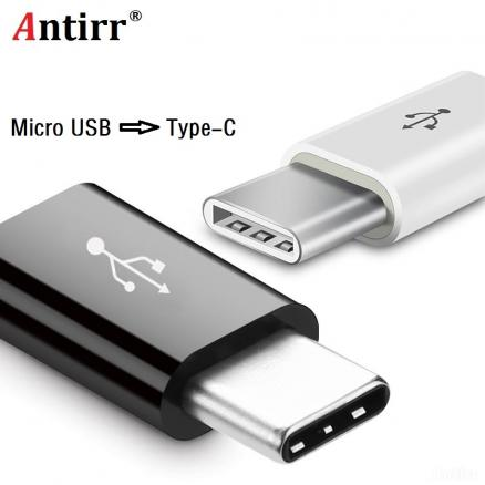 Antirr Type-C Cable Micro USB to Type C Adapter Fast Charger Converter for Xiaomi Mi5 Mi6 HuaWei P9 P10 Letv HTC Samsung letv 2