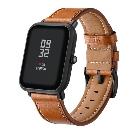 Watch band for amazfit bip strap leather bracelet for huami amazfit bip lite youth smart watch wrist strap Genuine Leather 20mm