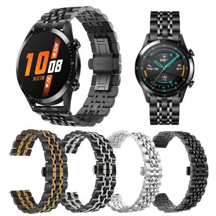 Metal Stainless Steel Wrist Strap for HUAWEI WATCH GT 2 / GT Active 46mm Band WristBand for HONOR Magic Bracelet Watchband