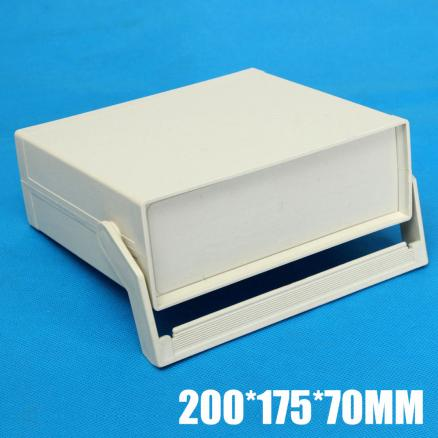 2019 New Plastic Enclosure Electronics Project Case Instrument Shell Box 200*175*70mm Power Control Cabinet With Screws