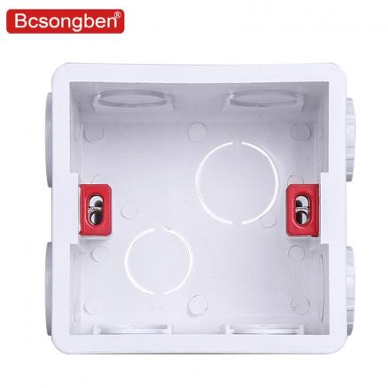 Bcsongben Adjustable Mounting Box Internal Cassette  For 86 Type smart light Switch and Socket  Pc Materials Wiring Back Box