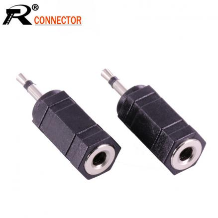 10pcs/lot 2.5mm Mono Male Plug to 3.5mm Mono Female Jack Audio Adapter 2.5 to 3.5 Mono Adapter R Connector  Wholesales