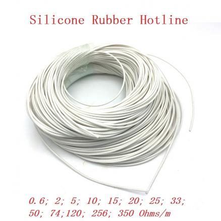 All Sizes Low Voltage Silicone Rubber Heating Cable Electric Heating Wire for Heating Pad Heating Mat