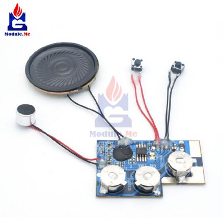20 Second Voice Recordable Module Sound Recording Board Chips with Button Record Module
