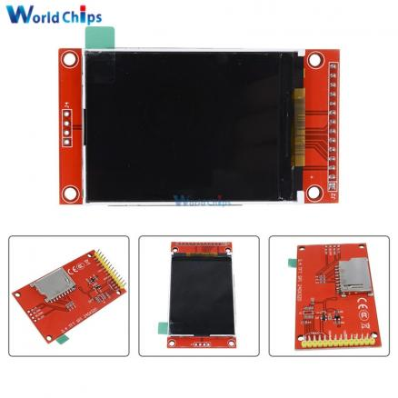 """2.4"""" 2.4 inch 240x320 SPI TFT LCD Serial Port Module 5V/3.3V PCB Adapter Micro SD Card ILI9341 LCD Display White LED for Arduino"""
