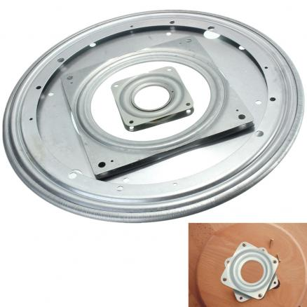 3 SIze Heavy   Metal Bearing Rotating Swivel-Turntable Plate For TV Rack Desk Table Smoothly Square/Round for Corner Cabinets
